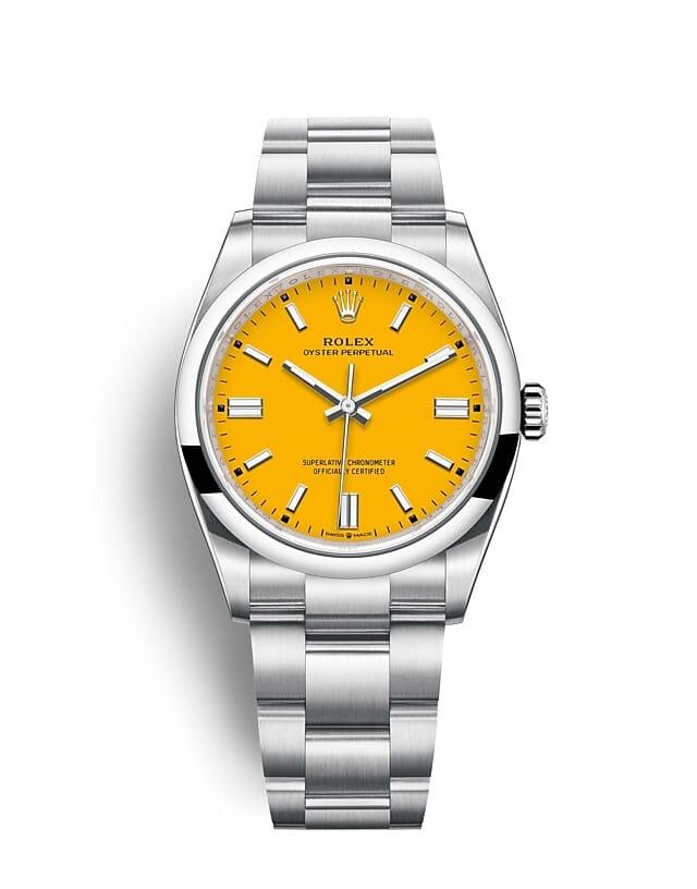นาฬิกา Rolex Oyster Perpetual 36 - Oyster, 36 มม., Oystersteel หน้าปัดสีเหลือง   126000