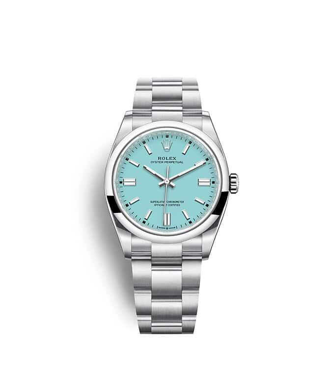 นาฬิกา Rolex Oyster Perpetual 36 - Oyster, 36 มม., Oystersteel หน้าปัดสีฟ้าเทอร์ควอยซ์   126000