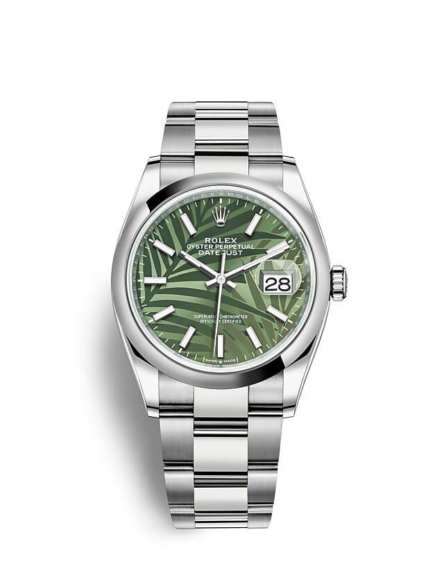 นาฬิกา Rolex Datejust 36 - Oyster, 36 มม., Oystersteel หน้าปัดสีเขียวมะกอก