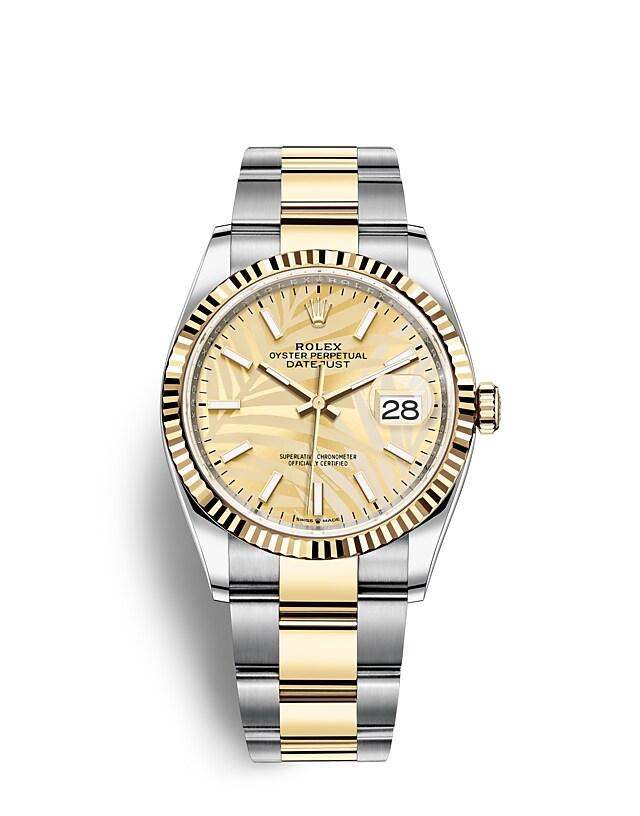 นาฬิกา Rolex Datejust 36 - Oyster, 36 มม., Oystersteel และทองคำ หน้าปัดสีทอง