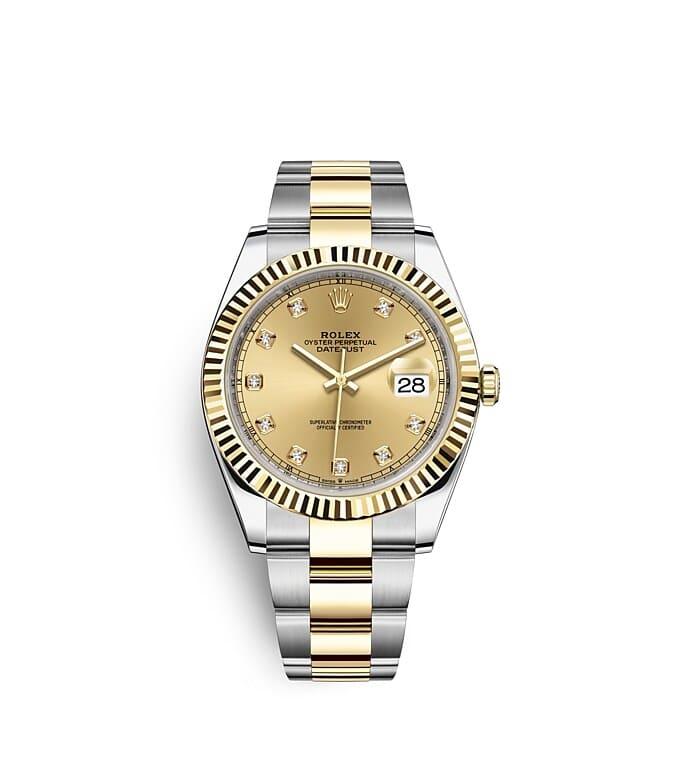 นาฬิกา Rolex Datejust 41 - Oyster, 41 มม., Oystersteel และทองคำ หน้าปัดสีแชมเปญ