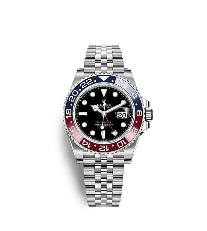นาฬิกาRolex GMT-Master II - Oyster, 40มม., Oystersteel หน้าปัดสีดำ | 126710BLRO