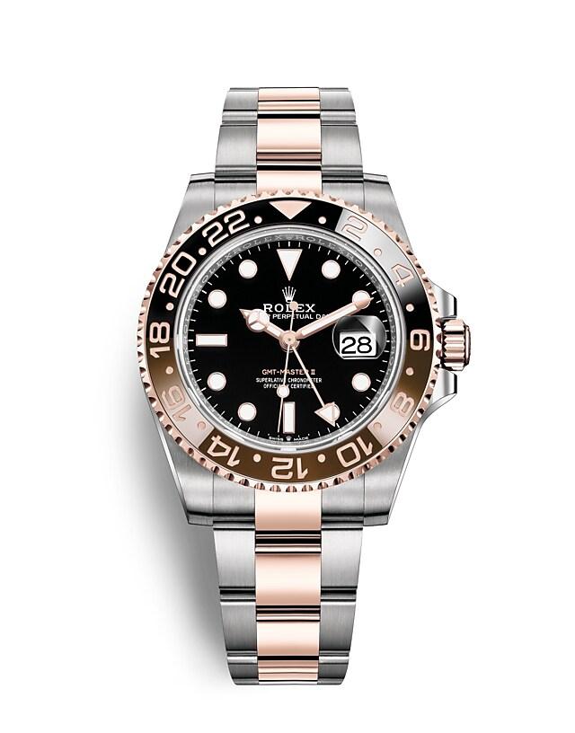 นาฬิกาRolex GMT-Master II - Oyster, 40มม., Oystersteel และเอเวอร์โรสโกลด์ | 126711CHNR