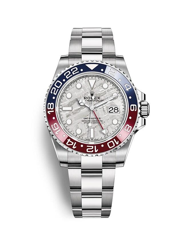 นาฬิกาRolex GMT-Master II - Oyster, 40มม., ทองคำขาว หน้าปัดเมธีโอไรท์ | 126719BLRO