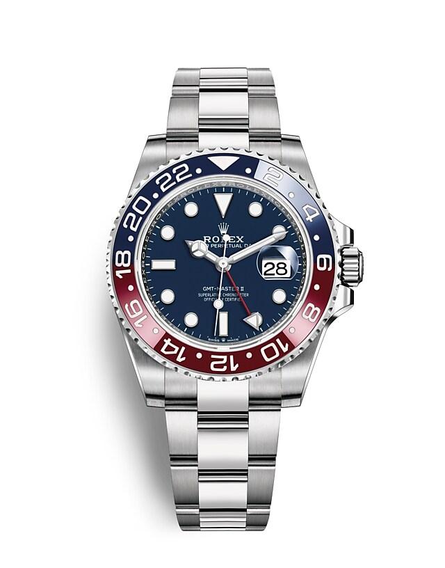 นาฬิกาRolex GMT-Master II - Oyster, 40มม., ทองคำขาว หน้าปัดสีน้ำเงินเข้ม | 126719BLRO