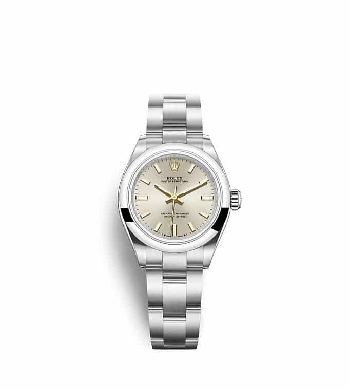 นาฬิกา Rolex Oyster Perpetual 28 - Oyster, 28 มม., Oystersteel หน้าปัดสีเงิน   276200