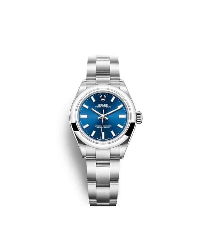 นาฬิกา Rolex Oyster Perpetual 28 - Oyster, 28 มม., Oystersteel หน้าปัดสีน้ำเงินสว่าง   276200