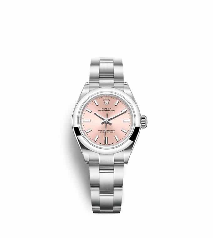 นาฬิกา Rolex Oyster Perpetual 28 - Oyster, 28 มม., Oystersteel หน้าปัดสีชมพู   276200