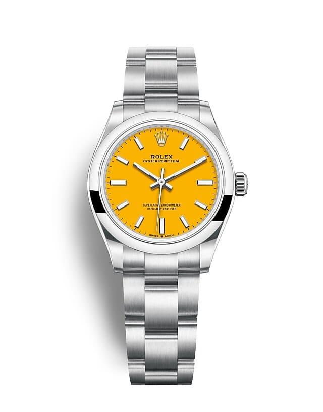 นาฬิกา Rolex Oyster Perpetual 31 - Oyster, 31 มม., Oystersteel หน้าปัดสีเหลือง   277200