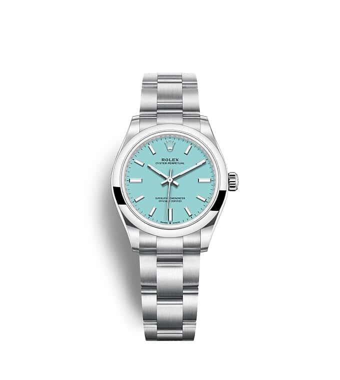 นาฬิกา Rolex Oyster Perpetual 31 - Oyster, 31 มม., Oystersteel หน้าปัดสีฟ้าเทอร์ควอยซ์   277200
