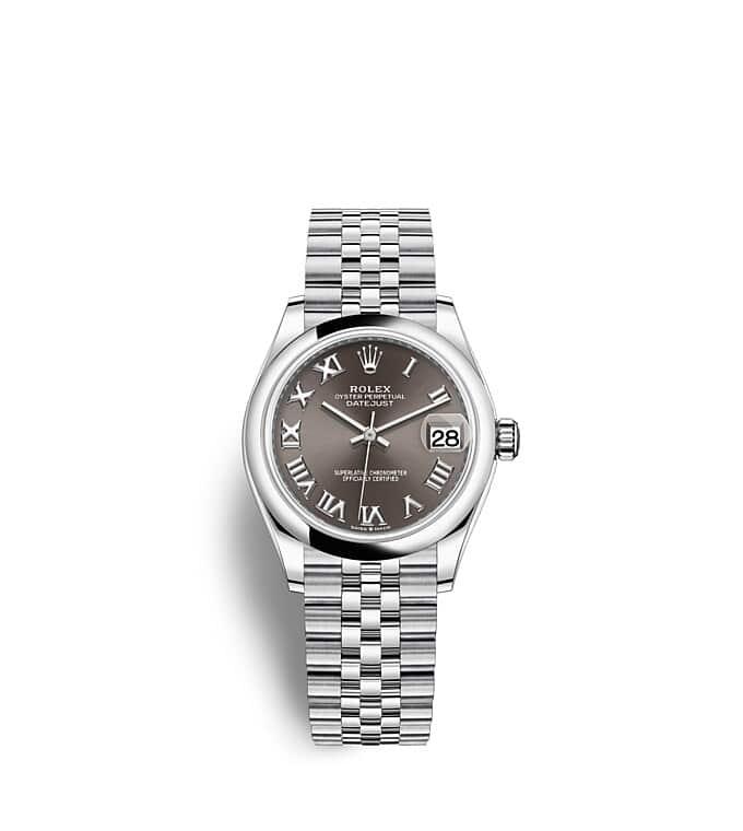 นาฬิกา Rolex Datejust 31 - Oyster, 31 มม., Oystersteel หน้าปัดสีเทาเข้ม