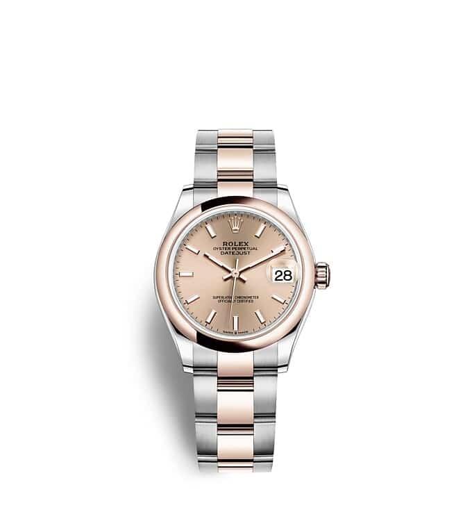 นาฬิกา Rolex Datejust 31 - Oyster, 31 มม., Oystersteel และเอเวอร์โรสโกลด์ หน้าปัดสีชมพูกุหลาบ