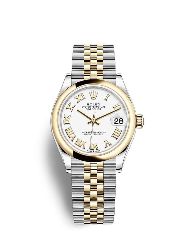 นาฬิกา Rolex Datejust 31 - Oyster, 31 มม., Oystersteel และทองคำ หน้าปัดสีขาว
