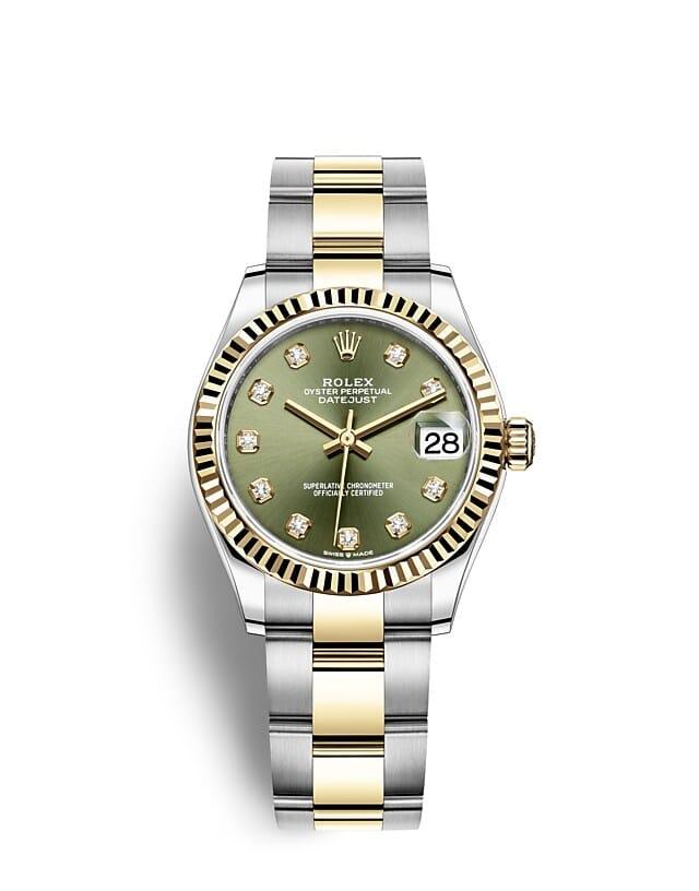 นาฬิกา Rolex Datejust 31 - Oyster, 31 มม., Oystersteel และทองคำ หน้าปัดสีเขียวมะกอก