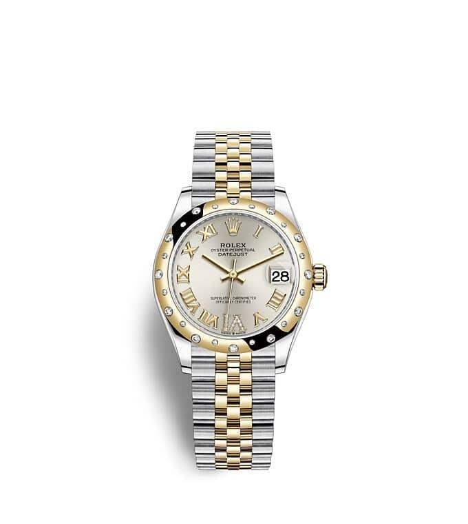 นาฬิกา Rolex Datejust 31 - Oyster, 31 มม., Oystersteel, ทองคำและเพชร
