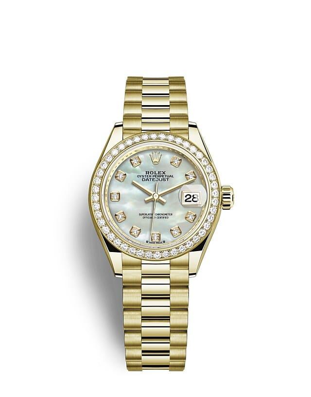 นาฬิกา Rolex Lady-Datejust - Oyster, 28 มม., ทองคำและเพชร หน้าปัดไข่มุก   279138RBR