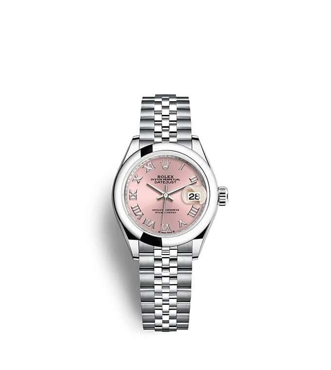 นาฬิกา Rolex Lady-Datejust - Oyster, 28 มม., Oystersteel หน้าปัดสีชมพู   279160