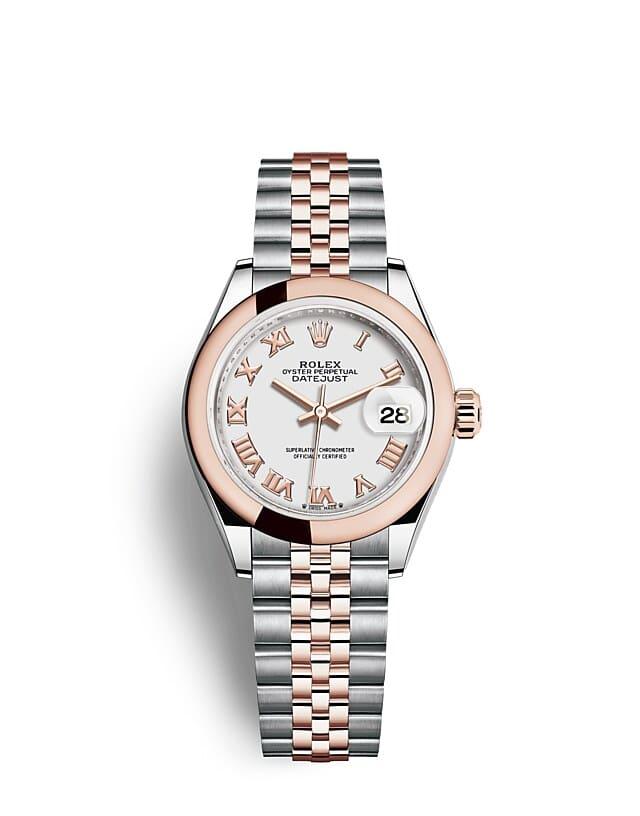 นาฬิกา Rolex Lady-Datejust - Oyster, 28 มม., Oystersteel และเอเวอร์โรสโกลด์ หน้าปัดสีขาว   279161