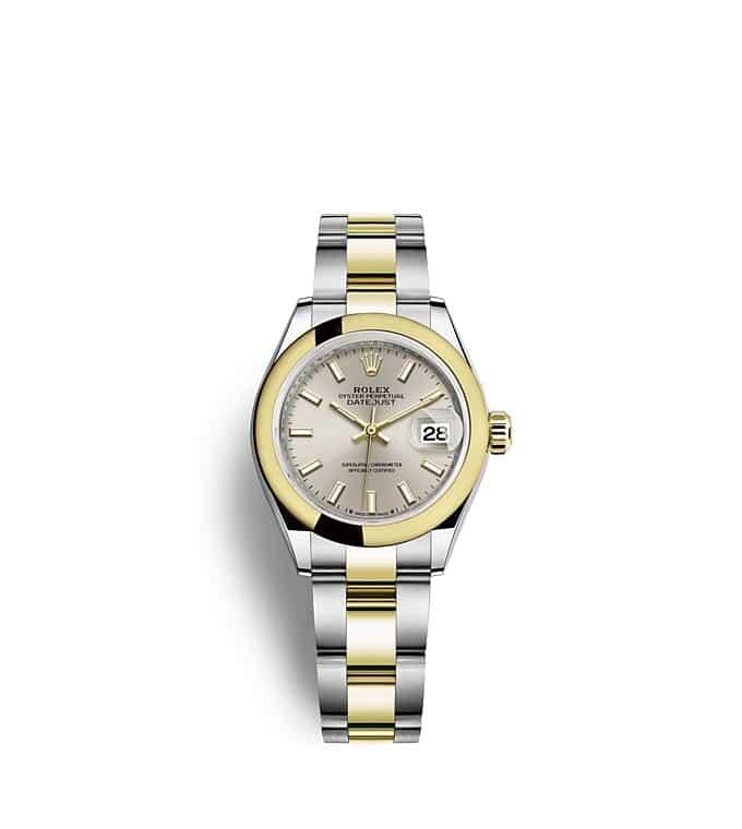 นาฬิกา Rolex Lady-Datejust - Oyster, 28 มม., Oystersteel และทองคำ หน้าปัดสีเงิน   279163