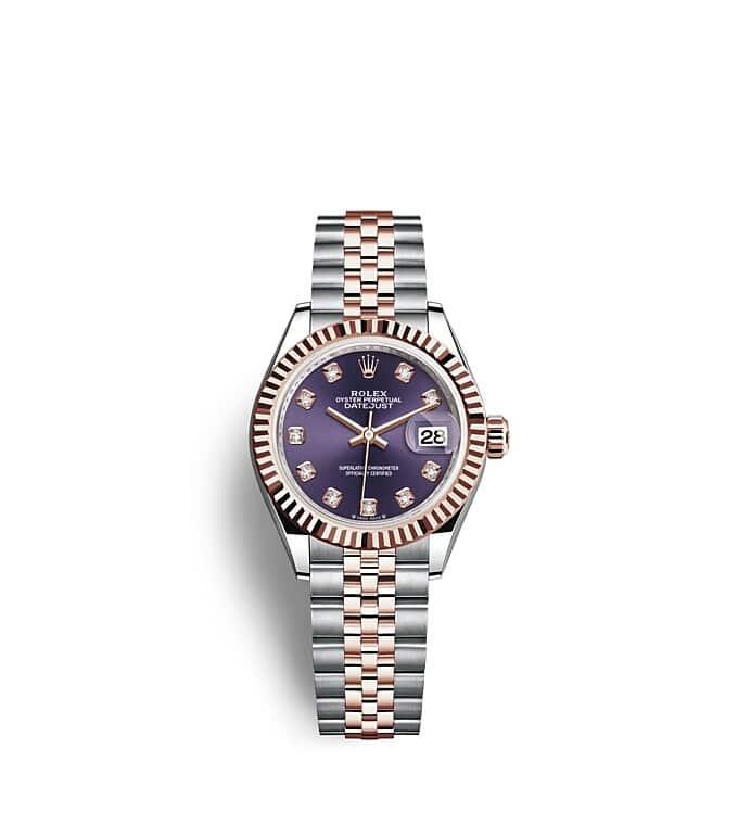 นาฬิกา Rolex Lady-Datejust - Oyster, 28 มม., Oystersteel และเอเวอร์โรสโกลด์ หน้าปัดสีม่วงเข้ม   279171