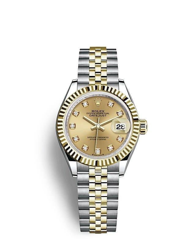 นาฬิกา Rolex Lady-Datejust - Oyster, 28 มม., Oystersteel และทองคำ หน้าปัดสีแชมเปญ   279173