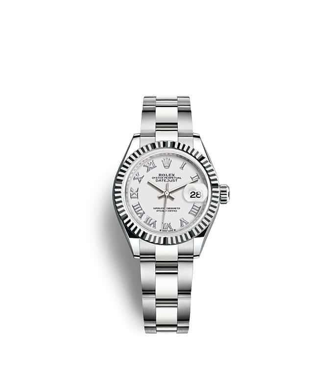 นาฬิกา Rolex Lady-Datejust - Oyster, 28 มม., Oystersteel และทองคำขาว หน้าปัดสีขาว   279174