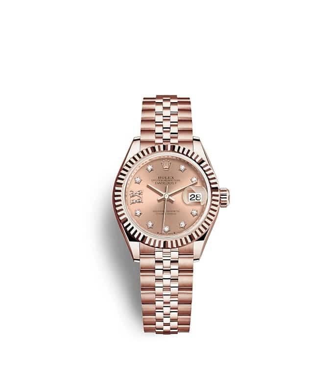 นาฬิกา Rolex Lady-Datejust - Oyster, 28 มม., เอเวอร์โรสโกลด์ หน้าปัดสีชมพูกุหลาบ   279175