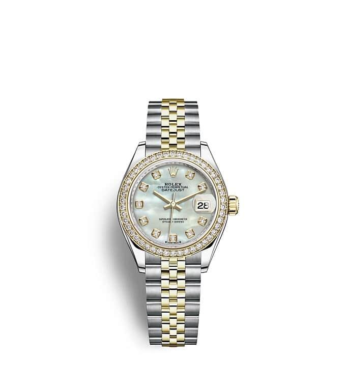 นาฬิกา Rolex Lady-Datejust - Oyster, 28 มม., Oystersteel และทองคำและเพชร หน้าปัดไข่มุก   279383RBR