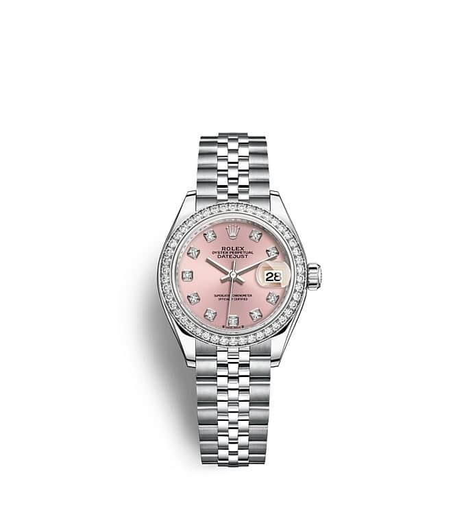นาฬิกา Rolex Lady-Datejust - Oyster, 28 มม., Oystersteel และทองคำขาวและเพชร หน้าปัดสีชมพู   279384RBR